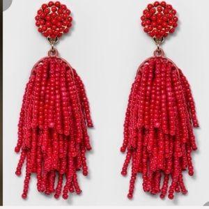 Baublebar red beaded earrings